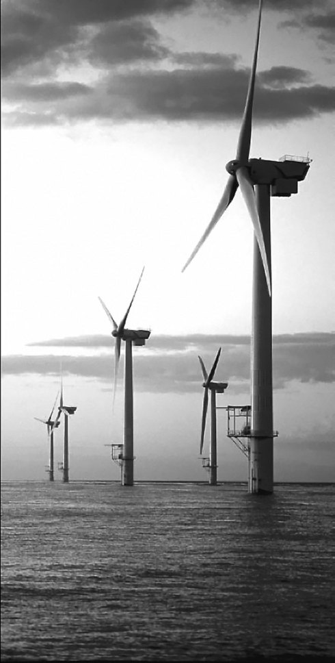 Offshore wind farm off the coast of England